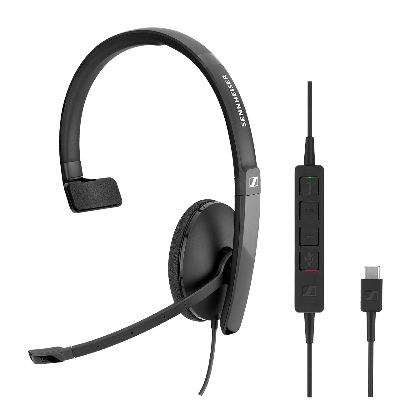 EPOS l Sennheiser ADAPT SC130 USB-C Wired monaural USB headset. Skype for Business certified and UC optimized