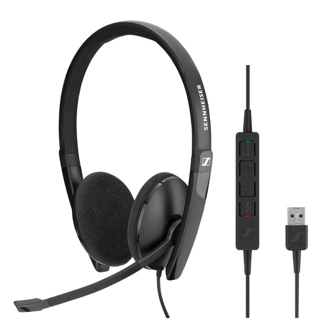 EPOS l Sennheiser ADAPT SC160 USB Wired binaural USB headset. Skype for Business certified and UC optimized