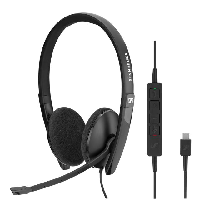 Sennheiser Wired binaural USB-C headset. Skype for Business certified and UC optimized