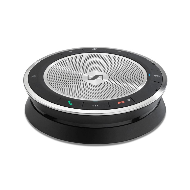 EPOS l Sennheiser SP30 Wireless Speakerphone, l Conferencing upto 8 People, PC/Softphone, Bluetooth, USB-C, USB, 3.5mm Plug n Play