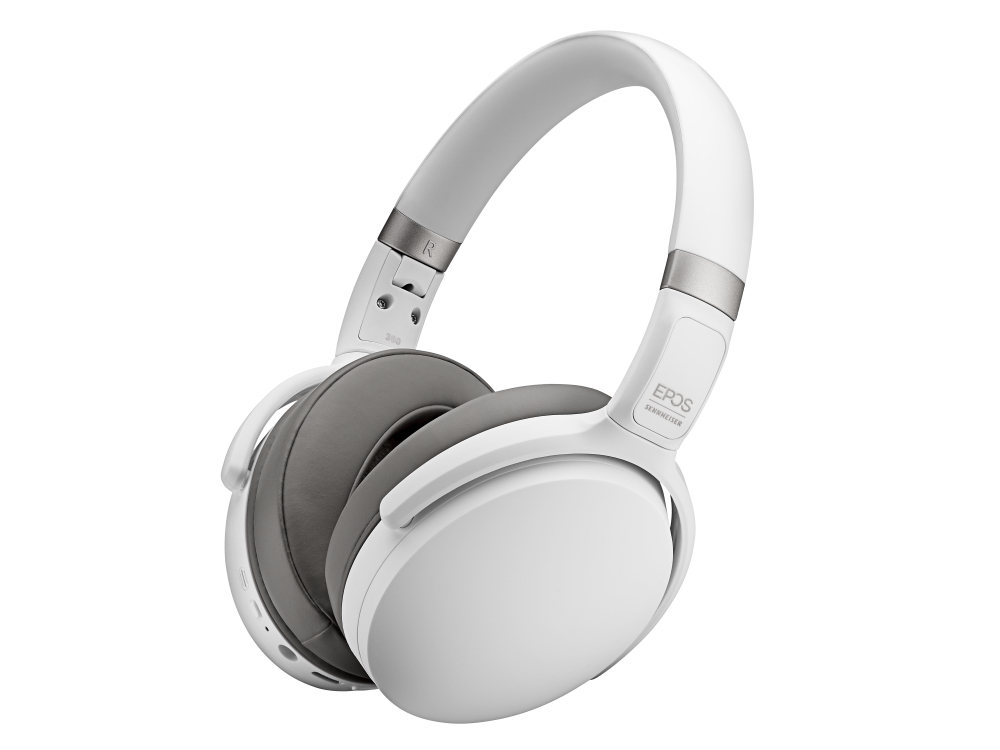 EPOS | Sennheiser Adapt 360 Double-Sided Bluetooth® Headset White w/ BTD800 USB Dongle & Storage Pouch, Teams Certified