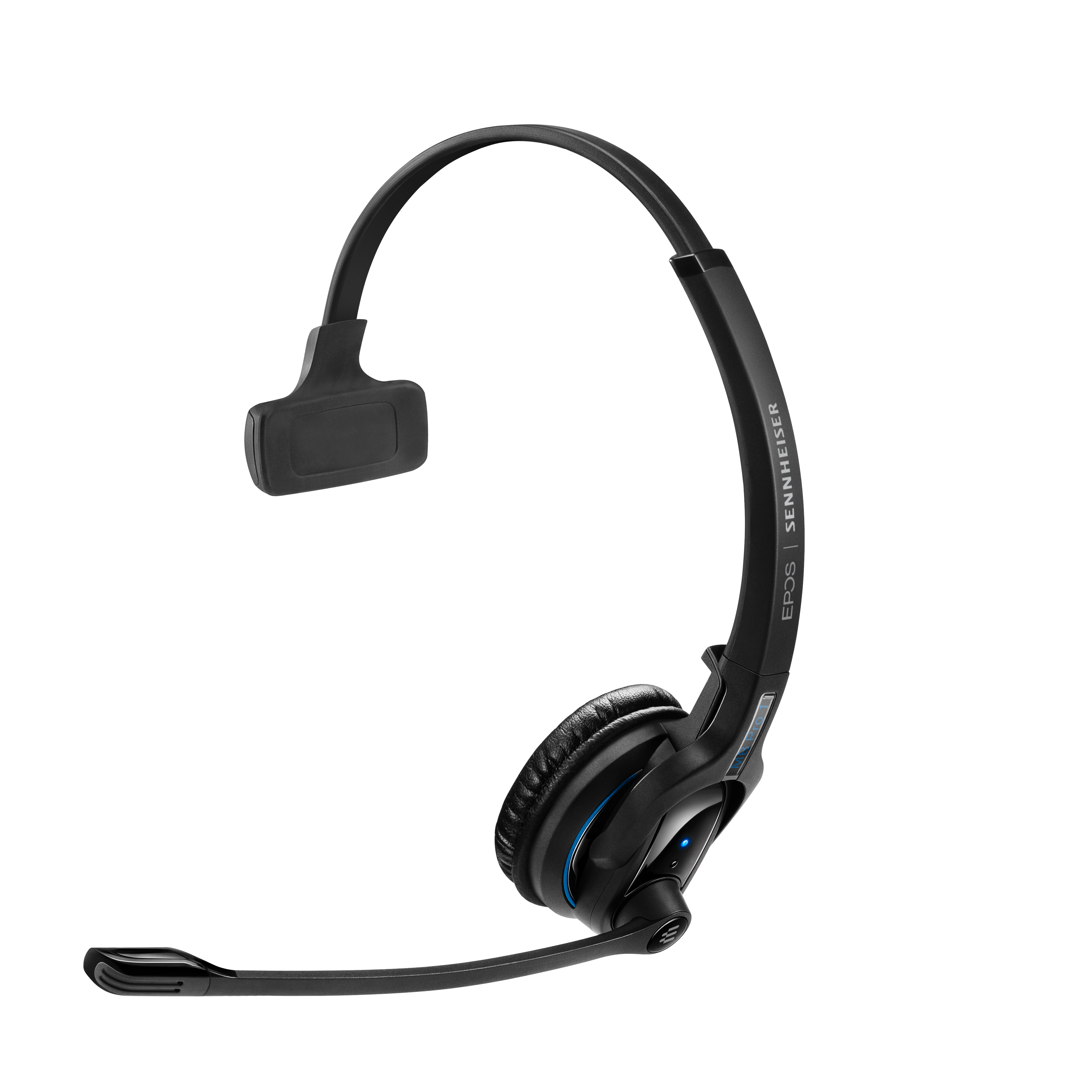 EPOS | Sennheiser IMPACT MB Pro1 UC ML Bluetooth 4.0 Headset with Desk USB Stand, Monaural, Noise Cancelling Mic, Upto 15 Hours Talk, Teams Certified