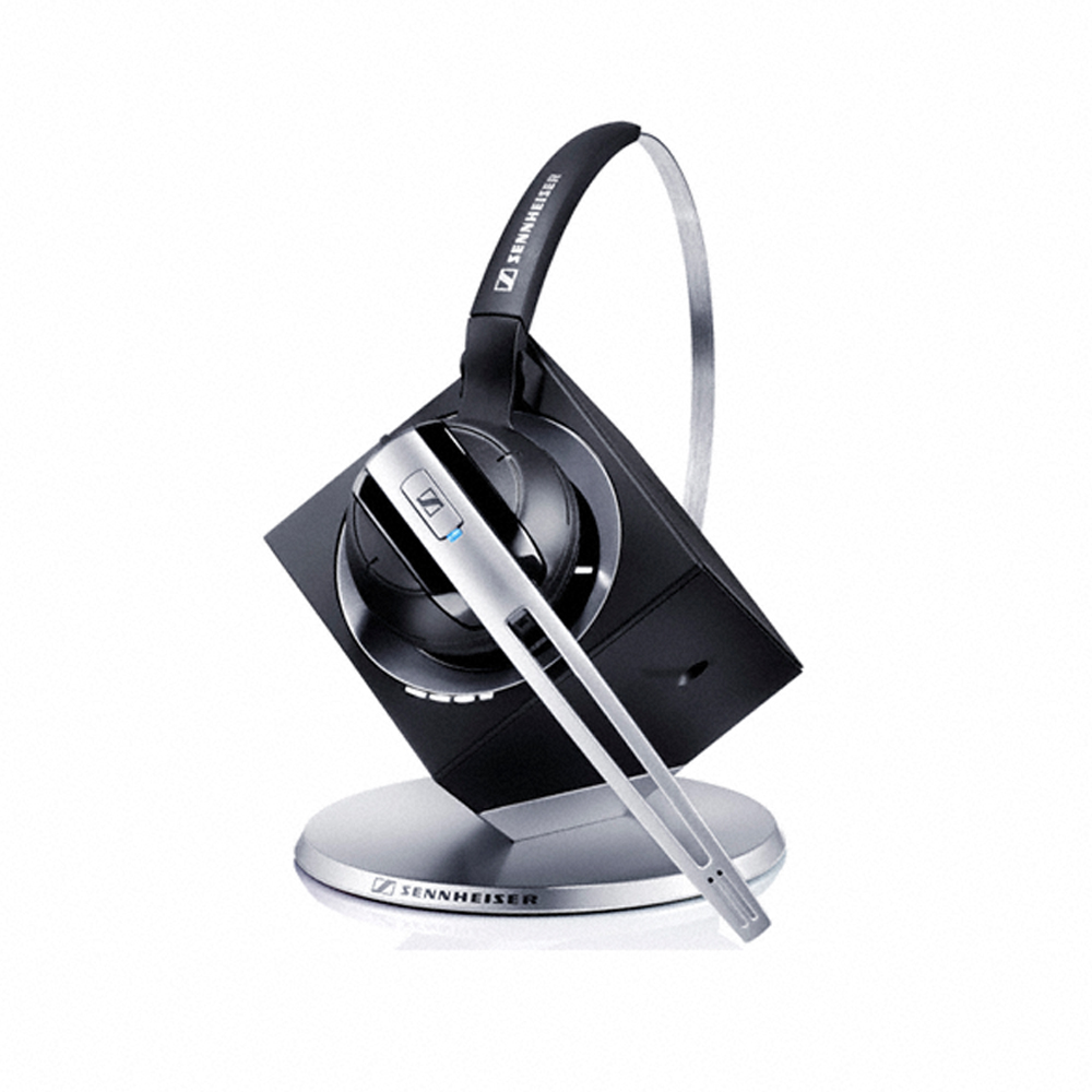 EPOS | Sennheiser DW10 ML Office - DECT Wireless Office headset with base station, for desk phone and PC, convertible (headband or earhook) Teams