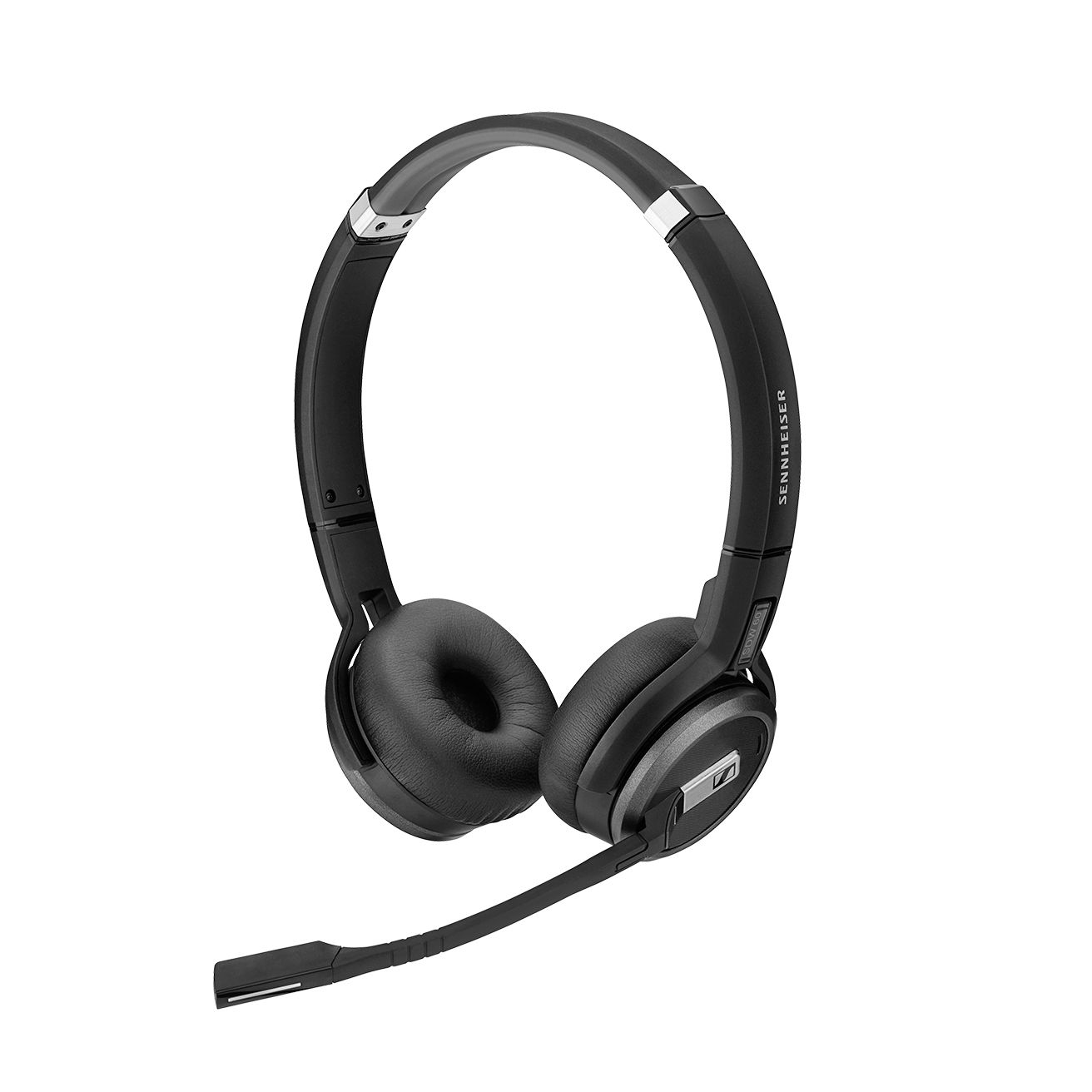 Sennheiser SDW 5065 DECT Wireless Office headset with base station, for desk phone and PC, binaural headset, bendable boom arm