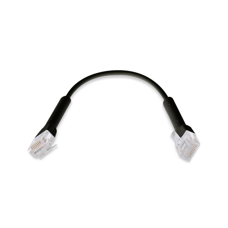 UniFi patch cable with both end bendable RJ45 22cm - Black
