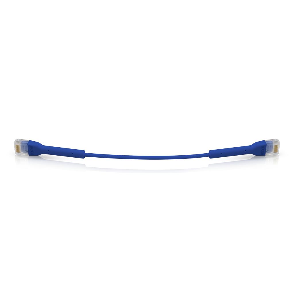 UniFi patch cable with both end bendable RJ45 22cm - Blue