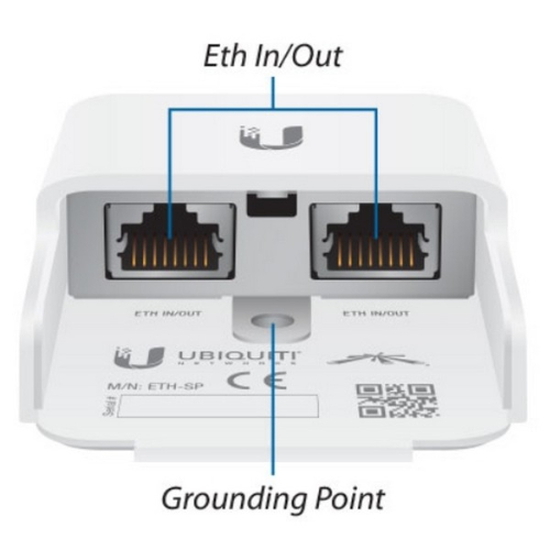 Ubiquiti Ethernet Surge Protector, engineered to protect any Power-over-Ethernet (PoE) or Non-PoE device with connection speeds of up to 1 Gbps