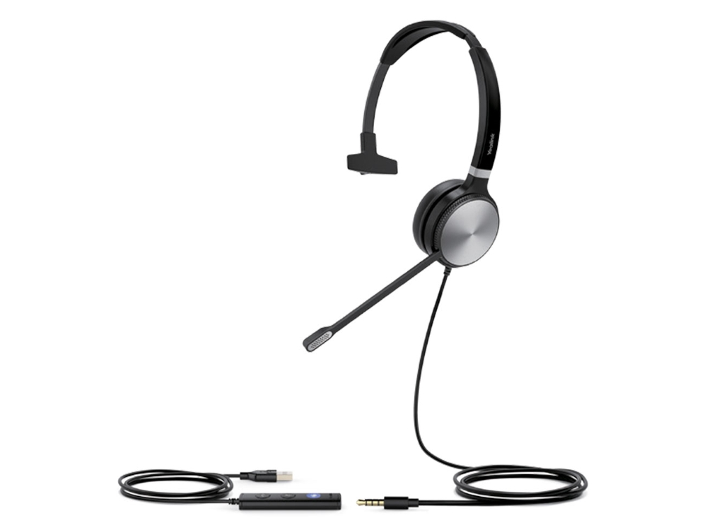 Yealink UH36 Mono Wideband Noise Cancelling Headset - USB / 3.5mm Connections, Designed for UC