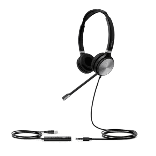 Yealink UH36 Stereo Wideband Noise Cancelling Headset - USB / 3.5mm Connections, Microsoft Teams, Skype for Business