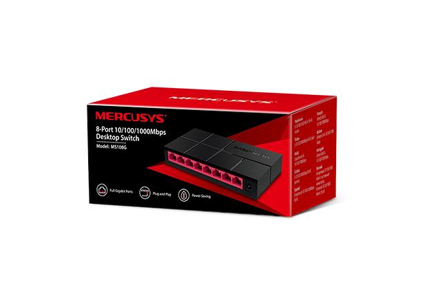 Mercusys MS108G 8-Port 10/100/1,000 Mbps Desktop Switch