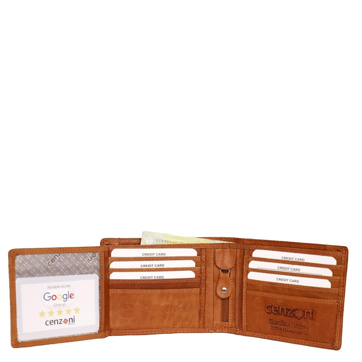 Genuine Leather Tan Men's Bifold Wallet ZOP25